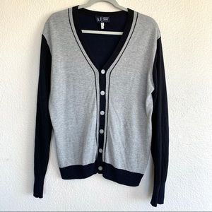 Armani Jeans Wool Button Up Cardigan Sweater